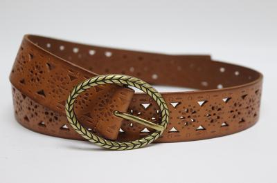 Leather Cut Out Belt