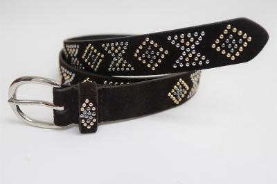 Cow Suede Leather Belt